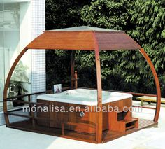 Monalisa Wood Arber/plastic Outdoor Spa Gazebo Gardon - Buy ...