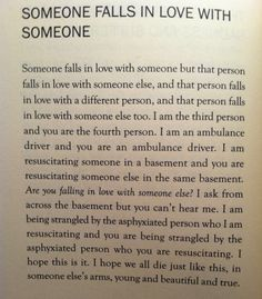 "Zachary Schomburg, ""Someone Falls in Love with Someone"""