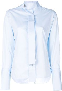 5fe9434f43f Eudon Choi Drape Neck Button Shirt - Farfetch