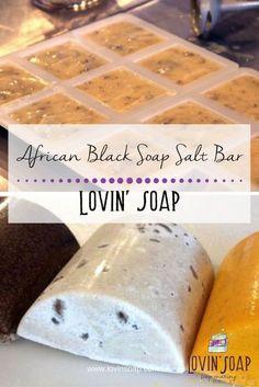African Black Soap Salt Bar - Soap | Handmade Soap | DIY Soap | Soap Making | Soapmaking | Learn to make soap | Natural Soap | Soap Recipe | Soap Tutorial