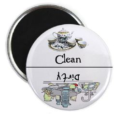 Dishes Clean Dirty Dishwasher Magnet by TheMagnetStore on Etsy, $4.95