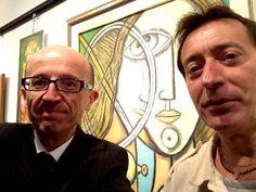 Assisi, il sindaco Claudio Ricci visita la mostra di Luciano Busti