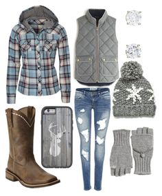 """""""Now only if it got cold here..."""" by southern-stars ❤ liked on Polyvore featuring dELiA*s, J.Crew, Ariat and Calypso St. Barth"""