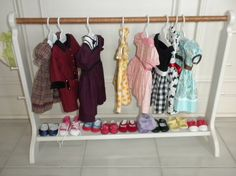 Great way to store/display your American Girl doll clothes $90.00