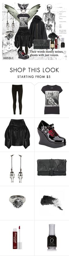 """""""Ghosts with Voices."""" by missyelsie ❤ liked on Polyvore featuring H&M, Vivienne Westwood Anglomania, AllSaints, Marc Jacobs, Mulberry, Goti, Benefit, Behance, Lab and TheBalm"""