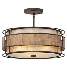 I pinned this Mica Semi-Flush Mount from the Quoizel event at Joss and Main!