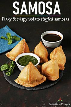 Samosa is an immensely popular snack from India. Make the best crunchy, flaky and delicious potato stuffed samosas with this easy recipe. Easy Samosa Recipes, Beef Recipes, Vegetarian Recipes, Snack Recipes, Cooking Recipes, Samosa Recipe Videos, Potato Samosas Recipe, Thai Recipes, Recipes Dinner