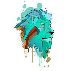 Mint geo lion