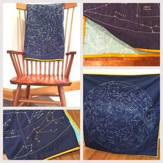 Detail shots of my DIY #constellationquilt designed by @hapticlab with binding made from @cottonandsteel double gauze and backing fabric by #RileyBlakeDesigns (fabric purchased at the lovely @sewtospeak )
