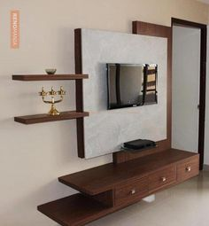Largest collection of inspiring Indian home interior design ideas. Lcd Wall Design, Lcd Unit Design, Tv Unit Decor, Tv Wall Decor, Tv Unit Bedroom, Tv Unit Furniture, Modern Tv Wall Units, Living Room Tv Unit Designs, Room Partition Designs