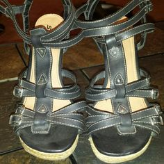 SALE SODA Dark Chocolate Strappy Wedges Brand: SODA Color: Dark chocolate / Black Size: approx. 9 1/2  Condition: Good - 8.5/10 ⚠ Normal slight wear   Other props/items in pic that aren't listed in title or description such as: Shoes, necklace, etc. are NOT included or for sale!  Smoke Free Home BUT Pet Friendly Items WASHED Before Mailing (unless New) ❎No P4yPal❎ ❎NO TRADES❎ Bundle & SAVE! Packaged with LOVE  ⏰Fast Shipping (within 24hrs) Questions? Msg Me Soda Shoes Wedges