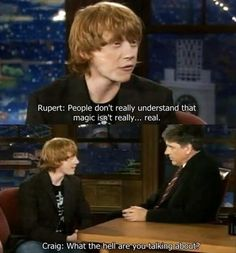 This is why I love this man. He believes in magic, and love doctor who.