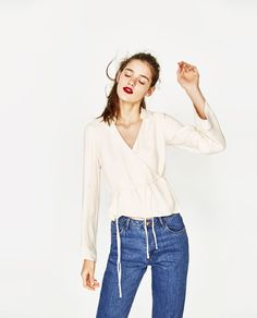 ZARA - TRF - CROSSOVER TOP