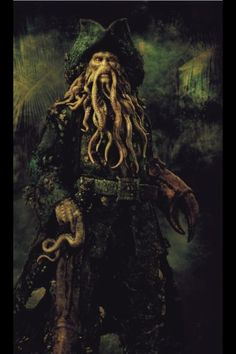 Davy Jones is a character in the Pirates of the Caribbean feature film series. He is the captain of the Flying Dutchman. Pirate Art, Pirate Life, Pirate Ships, Pirate Woman, Captain Jack Sparrow, On Stranger Tides, Flying Dutchman, Johny Depp, Dead Man