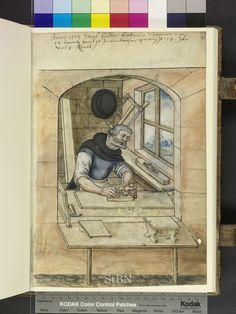 1571 - Friederich Punk Auer -   Carpenter (Schreiner) from Mendel Housebook.