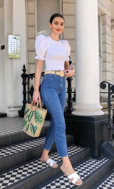 37 Attractive Casual Spring Outfits Ideas for Women 2020 - Suitable Fashion Ideas for You Cute Casual Outfits, Chic Outfits, Spring Outfits, Fashion Outfits, Womens Fashion, Fashion Ideas, Mode Outfits, Mode Inspiration, Look Fashion
