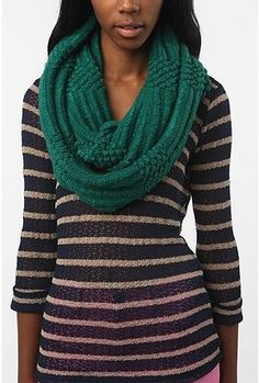 BDG Popcorn Knit Ribbed Eternity Scarf - StyleSays