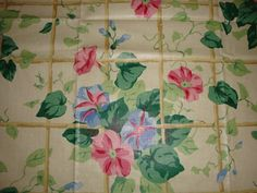 Retired Cyrus Clark IVY GREENERY pink blue by pureblisscottage