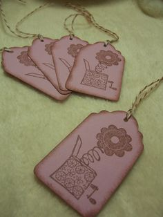 Items similar to Scrapbook Piece Set of So Lovely Flower Out of the Box Vintage Inspired Scrapbooking Hang Tags on Etsy Handmade Tags, Scrapbook Embellishments, Flower Images, Hang Tags, Altered Art, Twine, Mini Albums, Hand Stamped, Vintage Inspired