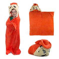 Oklahoma State Cowboys Huggable Hooded Blanket - Orange