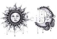 moon and sun tattoo designs! Tatoo 3d, 27 Tattoo, Tattoo Mond, Piercing Tattoo, Tattoo Drawings, Calf Tattoo, Future Tattoos, Love Tattoos, Beautiful Tattoos