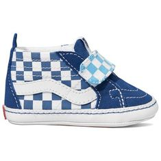2d17d0acf6 These Vans Infant Checkerboard Sk8-Hi Crib True Navy Bonnie Blue will look  adorable