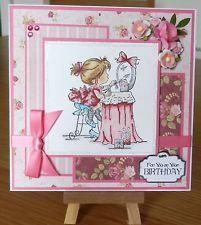 "Handmade - Lili of the Valley Birthday Card - LOTV  Getting Ready   6"" x 6"""