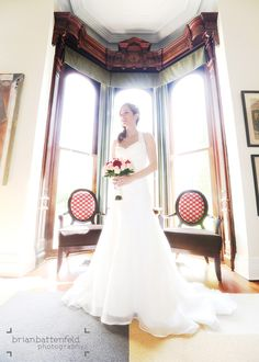 Gorgeous bride at the Mansion on Delaware - Buffalo, NY