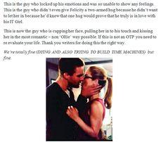 Arrow - Felicity and Oliver #Olicity #Season3 #holyshitmoment