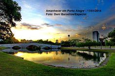 Amanhecer em Porto Alegre.