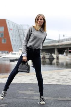 15 Best grey converse images | Casual outfits, Outfits with