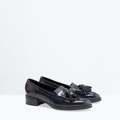 TASSELLED MOCCASIN from Zara, heel 4 cm; 17.995Ft