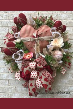 Sharing a Valentine wreath created by Trendy Tree customer, Custom Wreaths by Rosemarie. It's for sale on her website. Shop Trendy Tree online for Valentine decor and wreath making supplies for all occasions. Valentine Day Wreaths, Valentines Day Decorations, Valentine Day Crafts, Holiday Wreaths, Holiday Crafts, Holiday Decorations, Printable Valentine, Homemade Valentines, Valentine Ideas