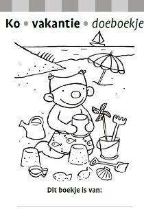 Zwijsen Ouders - Vakantie doeboekje voor kleuters
