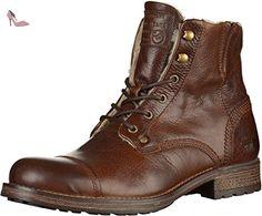 Mustang 4865-608 hommes Bottine Marron foncé, EU 50 - Chaussures mustang (*Partner-Link)