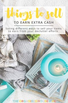 Selling items you no longer use or want is a good way to declutter your home and earn extra cash. I'll show you what you can get rid of and how easy it is. Make Money Blogging, Make Money From Home, Make Money Online, Saving Money, How To Make Money, Saving Tips, Super Healthy Recipes, Healthy Foods To Eat, Get Healthy