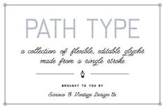 Path Type – Single Stroke Glyph Set by Sivioco on @creativemarket