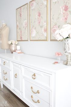 Blush And Gold Glam Office Reveal - Summer Adams - Home Design Home Office Design, Home Office Decor, Diy Home Decor, Interior Office, Decorating Your Home, Interior Decorating, Decorating Websites, Interior Design, Pink Office