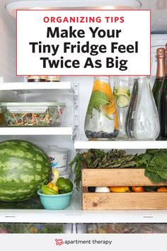 Here's how you make a tiny fridge bigger: You don't need magic or borderline-psychic Craigslist sense, you just need some clever hack-y solutions. Here are eleven tricks collected from Pinterest and across the web—each one hand-picked to make the most of your limited refrigerator and freezer space.