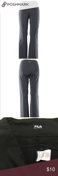 Women's fila active pants Gently used fila activewear pants. Ankle length with minor flare and with some signs they were washed and worn. Fila Pants Boot Cut & Flare