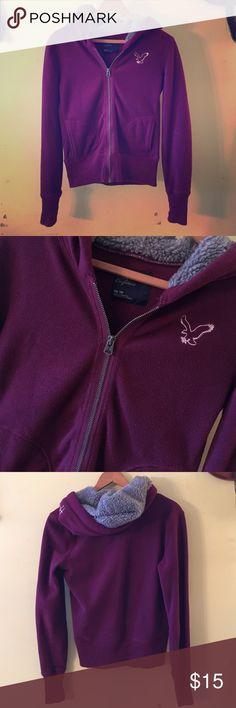 AE Maroon Zip Up • American Eagle • zip up hoodie • size: x-small • pre-loved • sold as is • American Eagle Outfitters Tops Sweatshirts & Hoodies