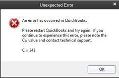 QuickBooks error code C=343. Please restart QuickBooks and try again. https://quickbookscommunity.wordpress.com/
