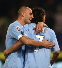 Paolo Cannavaro and Edinson Cavani - Napoli