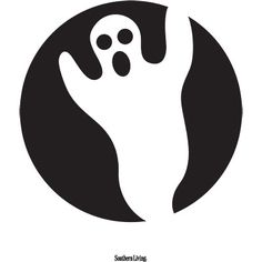 Ghost Pumpkin Carving Template | Click through for more pumpkin carving templates. | SouthernLiving.com | #Halloween
