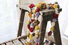 Dried Flower Garland… so fun to make!