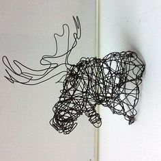 Hey, I found this really awesome Etsy listing at https://www.etsy.com/listing/235062458/moose-head-unique-wire-deer-sculpture
