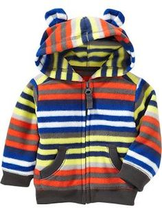 Performance Fleece Bear Hoodie- 3-6 months