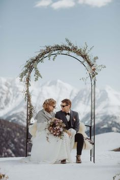 Wedding in the Alps - Hamilton Lodge Hamilton, Swiss Alps, Switzerland, Getting Married, Bouquet, Wedding Dresses, Winter, Wallis, Pictures