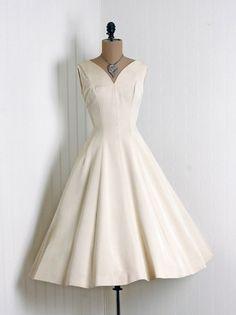 1950's silk party dress vintage wedding retro wedding full skirt circle skirt sweetheart neck sleeveless