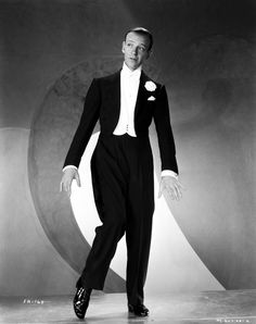 Fred Astaire Dancing in Black Shoes, Black Suit and White Bow Tie Premium Art Print